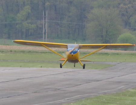 Stinson: Taxi to runway for FIRST FLIGHT